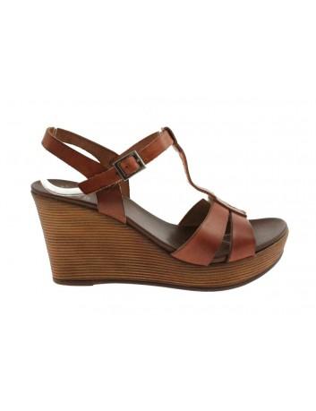 Skórzany sandał damski Porronet 2261 brązowy