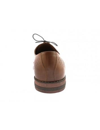 Półbut męski skórzany EDEK, Kolor brązowy