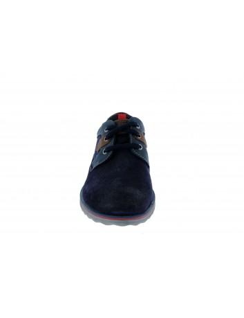 Skórzany półbut męski s.Oliwer, Kolor granatowy