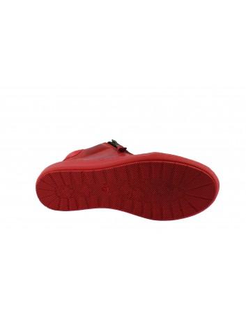 Trzewik damski skórzany WASAK, Kolor czerwony