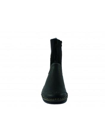 Botek damski rzep powyżej kostki Rieker, Kolor czarny