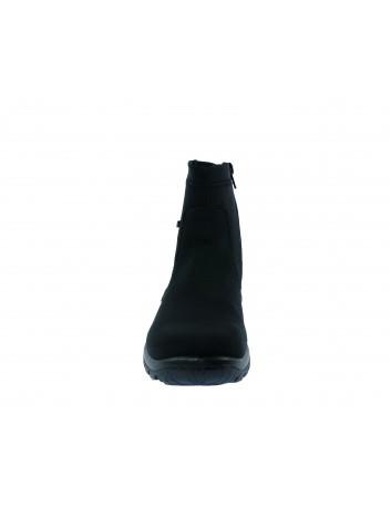 Botek damski z materiału Rieker, Kolor czarny