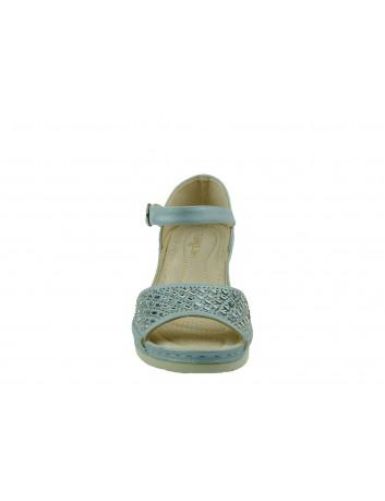 Komfortowy sandał damski na koturnie T.Sokolski, Kolor niebieski