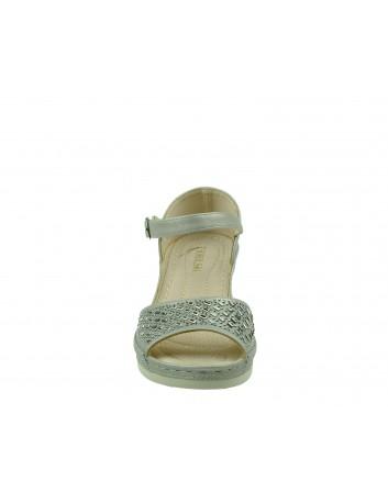 Komfortowy sandał damski na koturnie T.Sokolski, Kolor szary