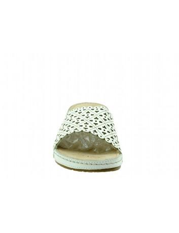 Skórzany klapek damski FLY SOFT, Kolor biały