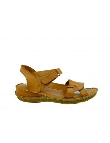 Skórzany komfortowy sandał damski T.Sokolski, Kolor brązowy