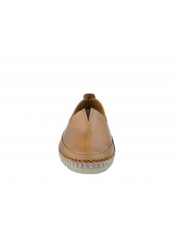 Skórzany wsuwany półbut T.Sokolski ARA 906, Kolor brązowy