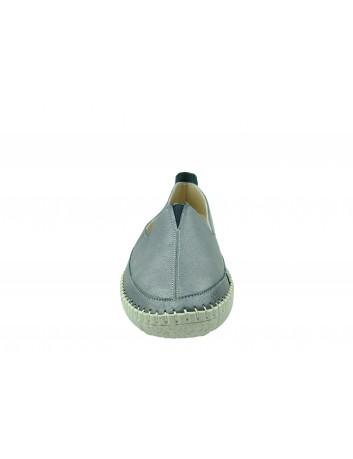Skórzany wsuwany półbut T.Sokolski ARA 906, Kolor srebrny
