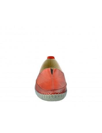 Skórzany wsuwany półbut T.Sokolski ARA 906, Kolor czerwony