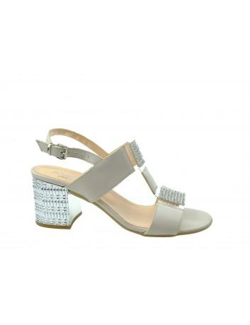 Sandał skórzany damski ANNMEX, Kolor beżowy
