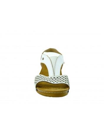 Skórzany sandał damski MUYA, Kolor biały