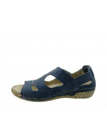Skórzany sandał damski Rieker