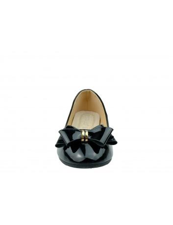 Balerina lakierowana kokarda VINCEZA, Kolor czarny