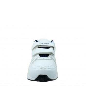 Sportowy but męski  na rzepy BLACK FOREST, Kolor biały