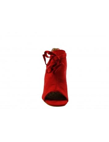 Sandał damski na obcasie VINCEZA 19-1751, Kolor czerwony