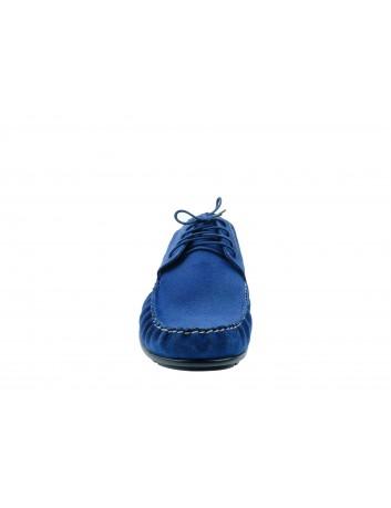 Półbut męski skórzany nikopol 1706, Kolor niebieski