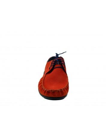 Półbut męski skórzany nikopol 1706, Kolor czerwony