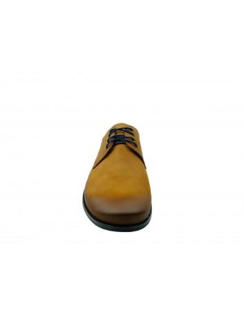Półbut męski skórzany nikopol 1702, Kolor brązowy