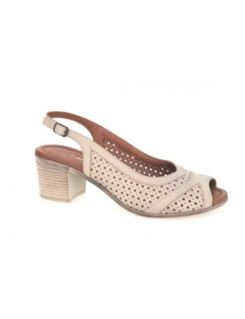 Sandały skórzane damskie ALP 2406  T.Sokolski, Kolor beżowy
