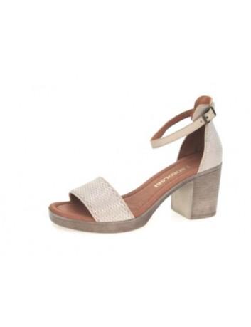 Sandały skórzane damskie ALP 2441  T.Sokolski, Kolor beżowy