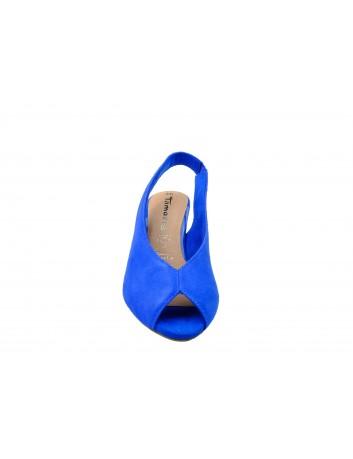 Sandał damski na obcasie Tamaris1-29614-32R, Kolor niebieski