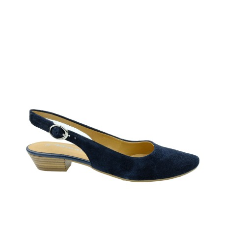 Skórzany sandał damski Tamaris1-29400-22N, Kolor granatowy