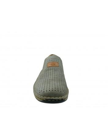 Letni półbut męski skórzany Rieker 05265-42D, Kolor szary