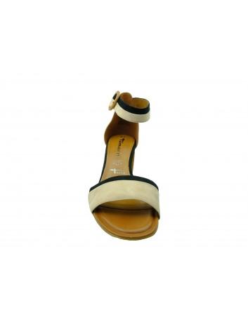 Sandał damski Tamaris 1-28379-22N,Kolor brąz z granatem