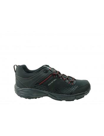 Sportowe obuwie soft shell DK 19503, Kolor czarny z czerownym