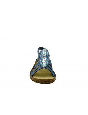Sandał damski Rieker V69G7-14, Kolor niebieski