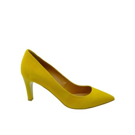 Szpilka damska SZYDŁOWSKI 2091, Kolor żółty