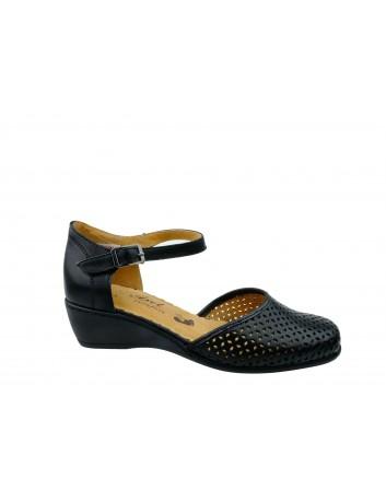 Sandały skórzane Axel 2377,Kolor czarny