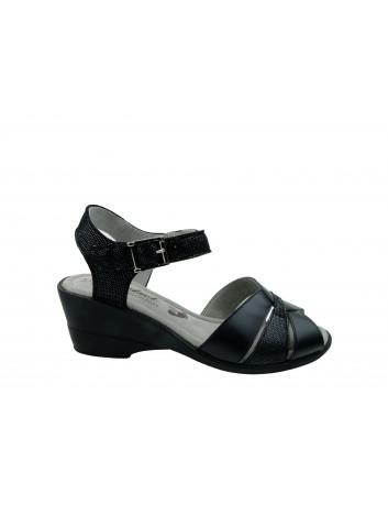 Sandały skórzane Axel 2383,Kolor czarny