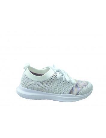 Sportowe obuwie wsuwane DK 805276,Kolor biały
