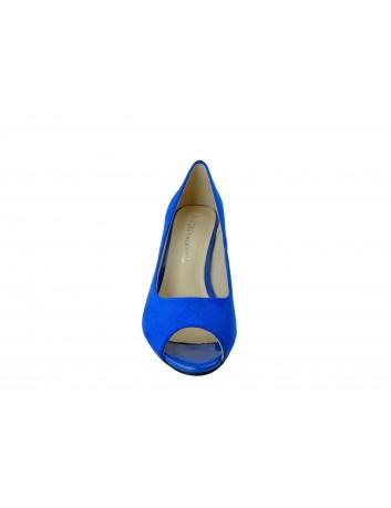 Czółenko damskie odkryte palce Sergio Leone PB133,Kolor niebieski