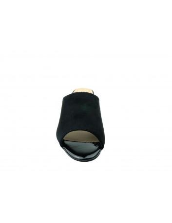 Klapek damski na obcasie Sergio Leone KL315, Kolor czarny