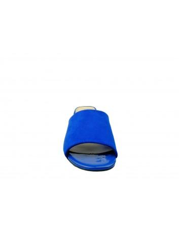 Klapek damski na obcasie Sergio Leone KL312, Kolor niebieski