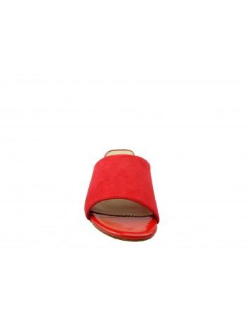 Klapek damski na obcasie Sergio Leone KL312, Kolor czerwony