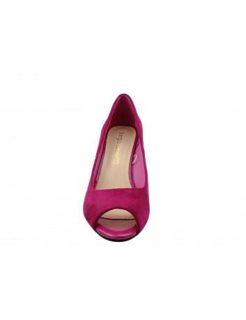 Czółenko damskie odkryte palce Sergio Leone PB133,Kolor różowy