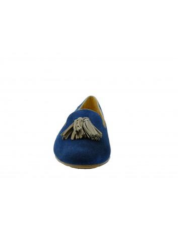 Lordsy skórzane Maciejka 04076, Kolor granatowy