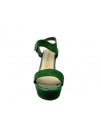 Sandał damski VINCEZA 19-19106, Kolor ciemny zielony