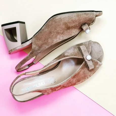 sandały z zamszu damskie