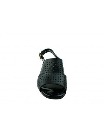 Sandały skórzane PIECH 2084,Kolor czarny