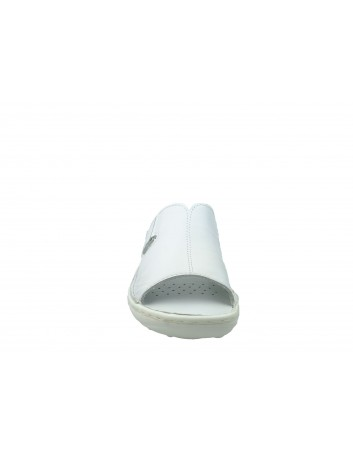 Skórzany klapek damski Stella 663, Kolor biały