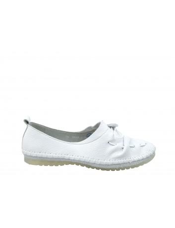 Balerina damska skórzana Maciejka 03955, Kolor biały