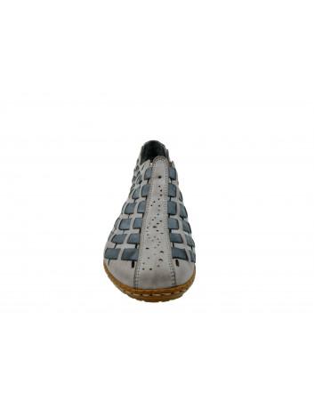 Letni półbut damski Rieker 46778-40R,Kolor szary