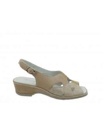 Sandały skórzane ALF WŁ 3511,Kolor beżowy