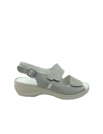 Sandały skórzane ALF WŁ 3418,Kolor szary