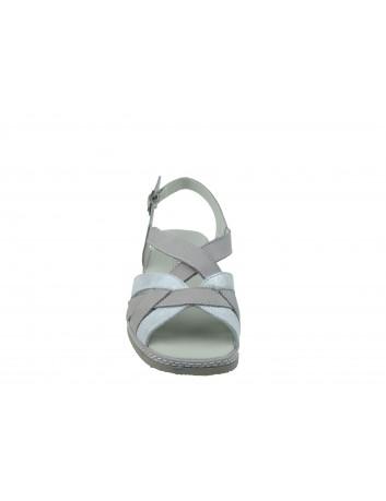 Sandały skórzane ALF WŁ 3501,Kolor srebrny