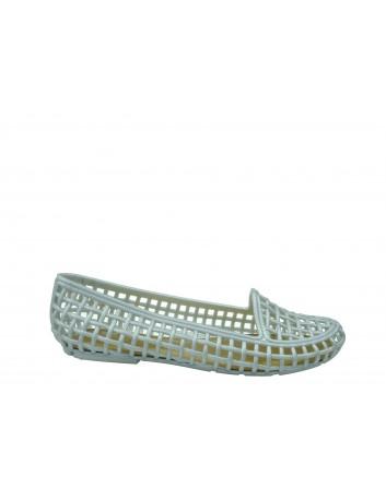 Baleriny Terra & Agua,Kolor srebrny